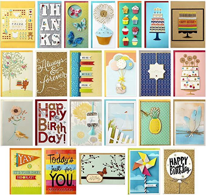 Amazon Com Hallmark All Occasion Handmade Boxed Set Of Assorted Greeting Cards With C Assorted Greeting Cards Greeting Card Organizer Birthday Greeting Cards