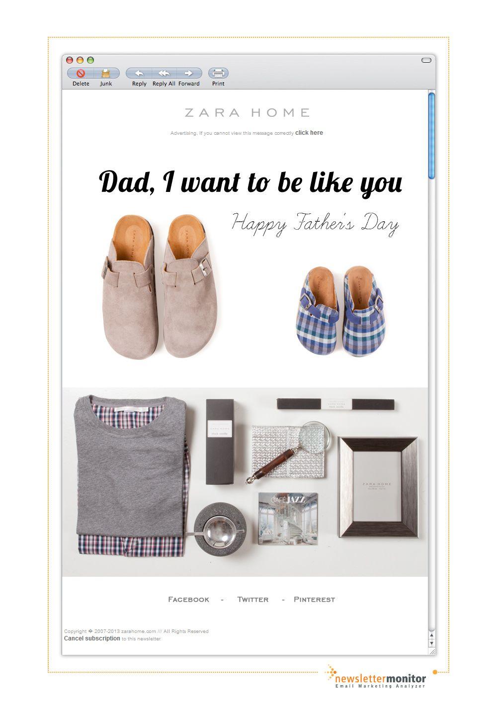 Brand: Zara Home | Subject: Happy Father's Day!