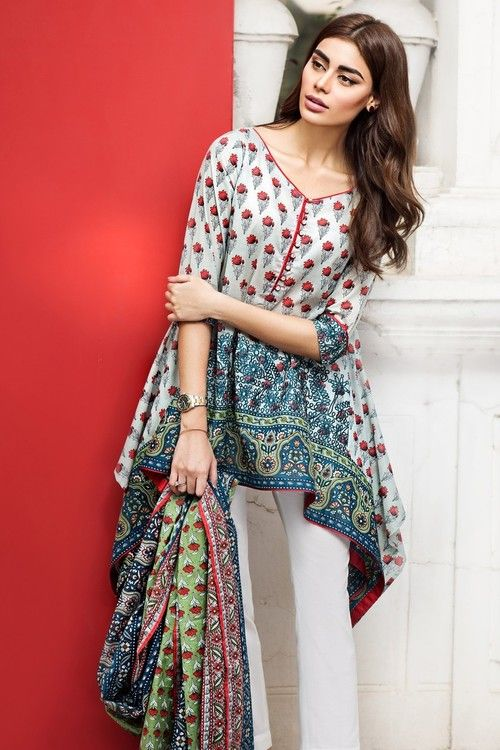 202c8747a4 Libasco | Khaadi 2 Piece Stitched Embroidered Lawn Suit - M17111-A - Blue