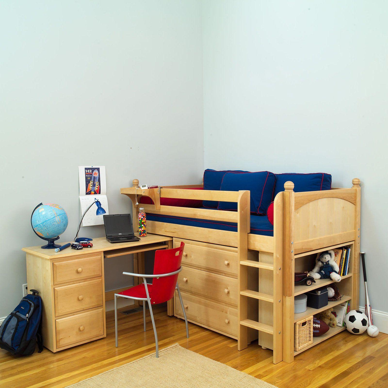 Loft bedroom for boys  Have to have it Box  Panel Storage Study Loft   Hockey