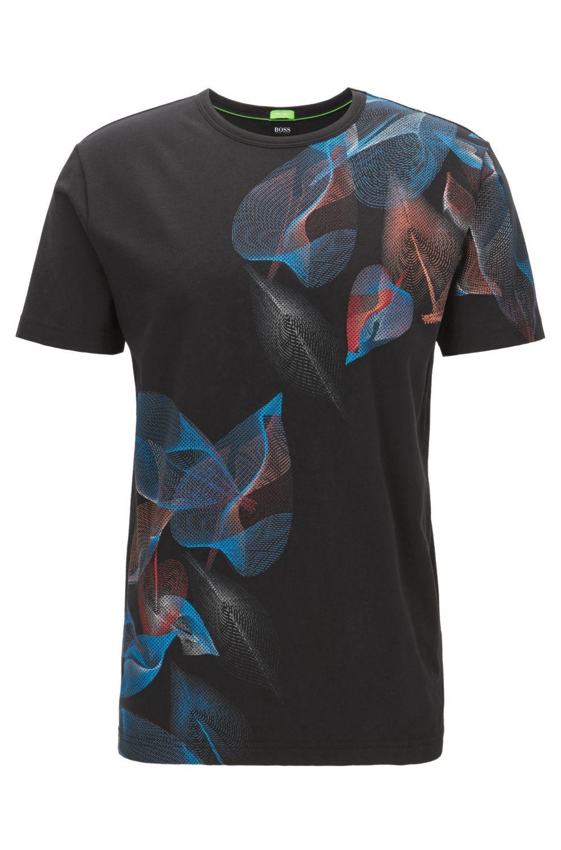 Boss floralprint stretch cotton graphic tshirt regular