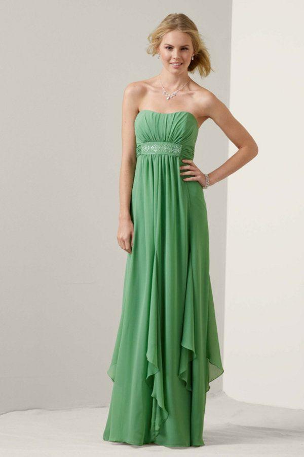 Long Green Bridesmaid Dresses Photo Album - Weddings Pro