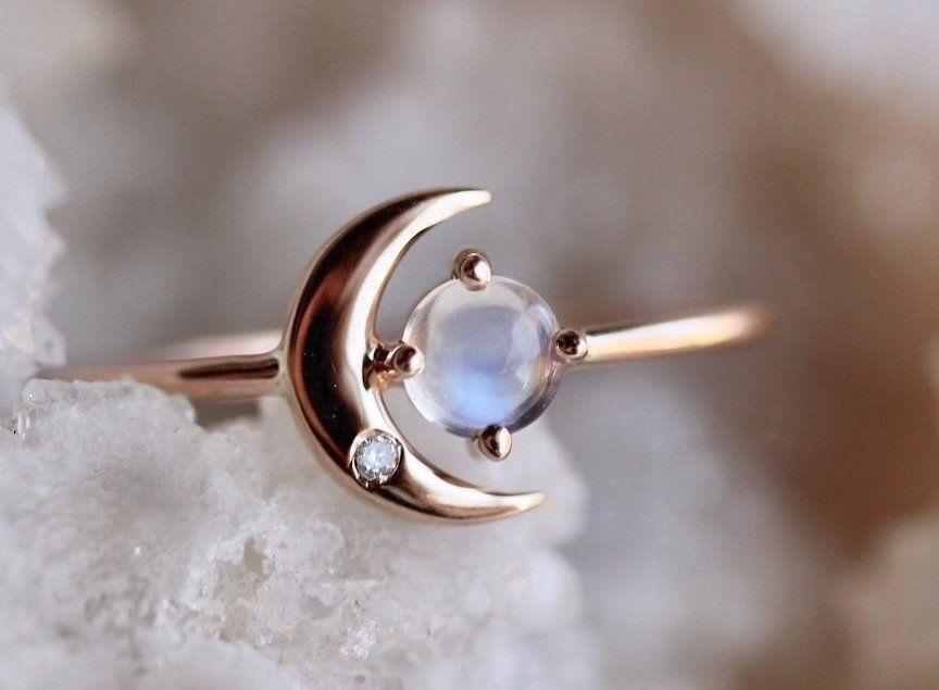 Gold moonstone ring Resin ring Moonstone engagement ring Natural moonstone ring Resin bands Genuine opal ring Pure moonstone ring resin
