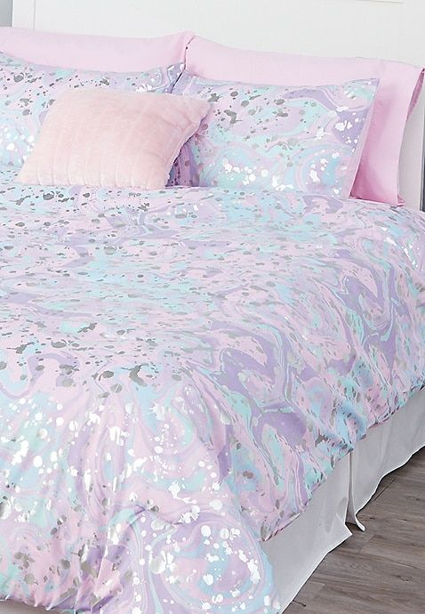Marble 7 Piece Bed In A Bag Queen Size For Girls In 2020 Bed