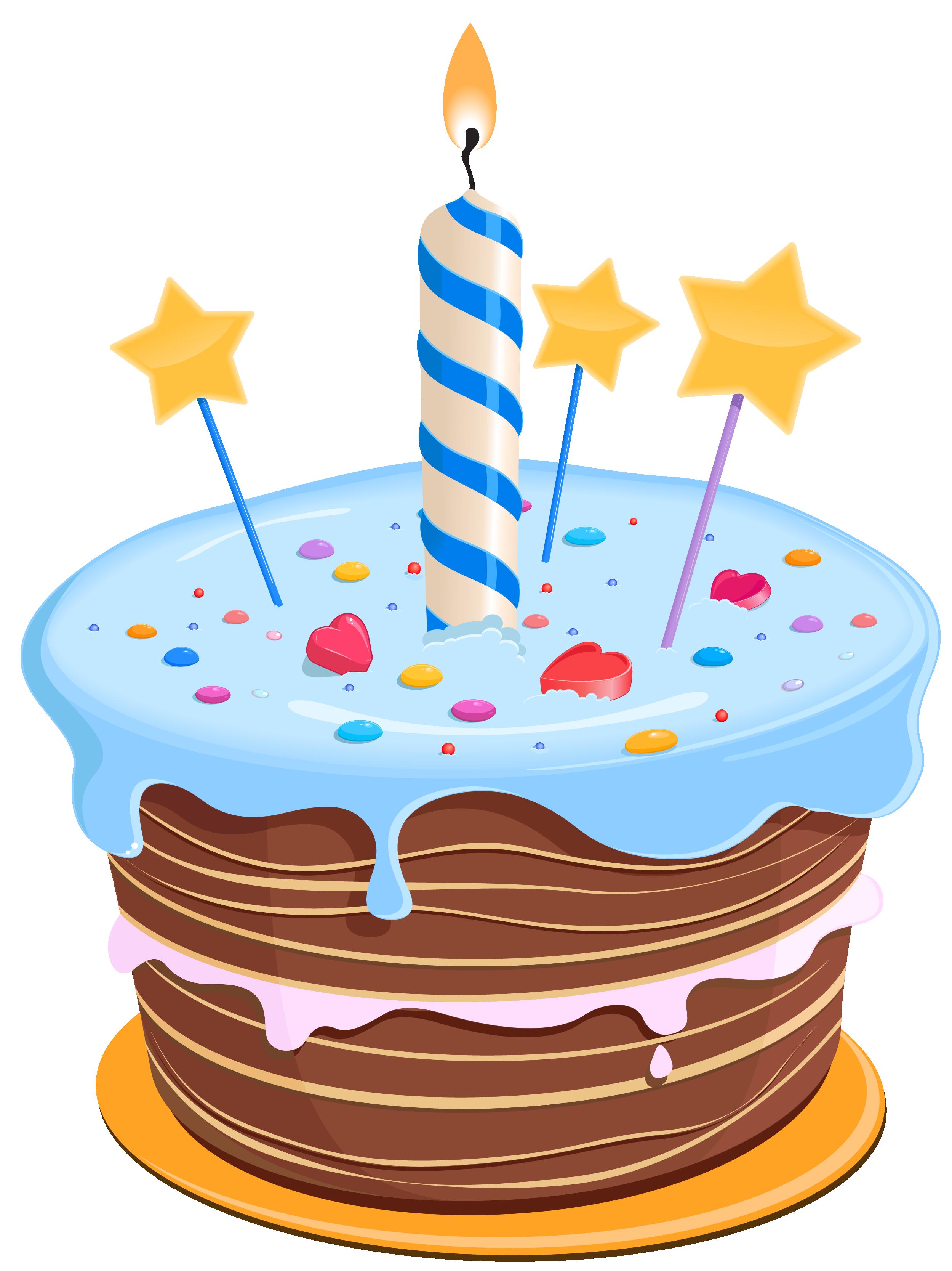 set cute birthday cake clipart
