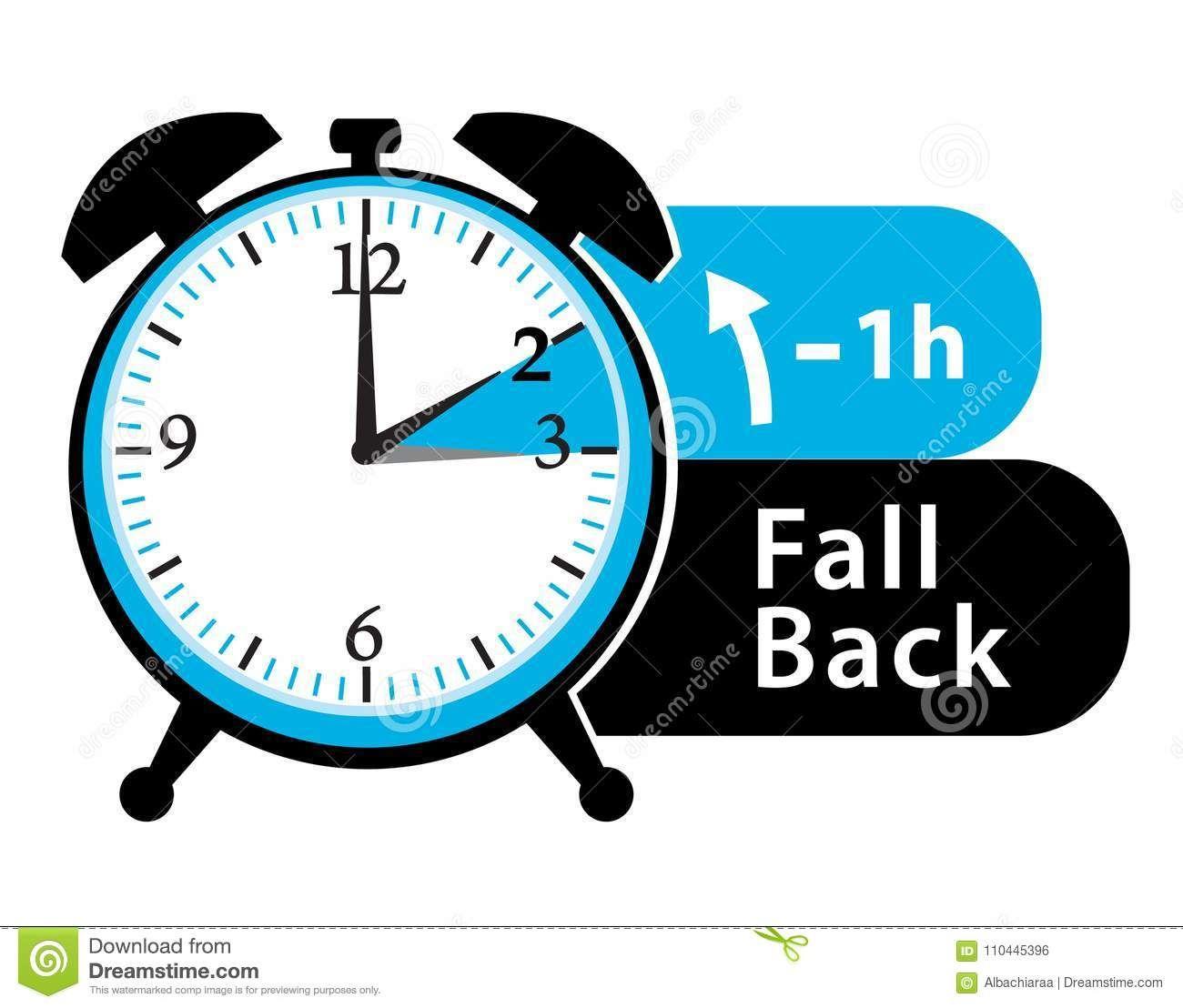 Daylight Saving Time. Fall Back Alarm Clock Icon. Stock