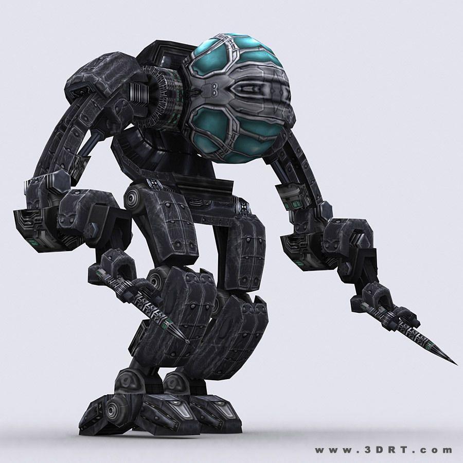 3drt - mech robot engineer - 03 3d model low-poly rigged