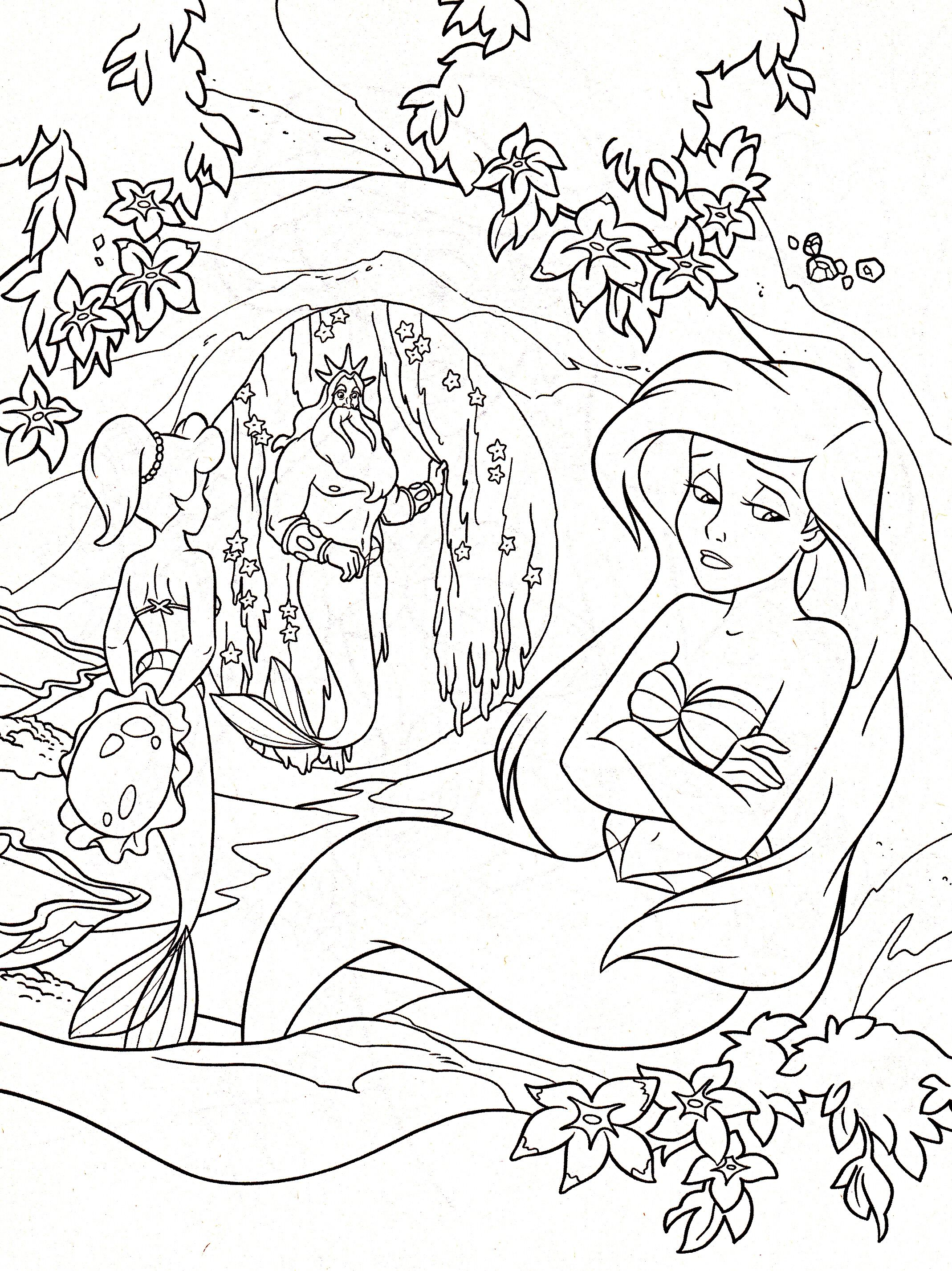 Disney Coloring Pages Is A Web That Contains A Collection Of Coloring Pages Such As Ariel Coloring Pages Princess Coloring Pages Disney Princess Coloring Pages