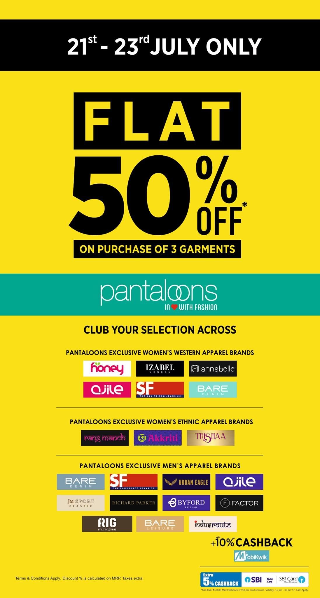 Do the epic stuff! Pantaloons offer flat 50 off. OFFER