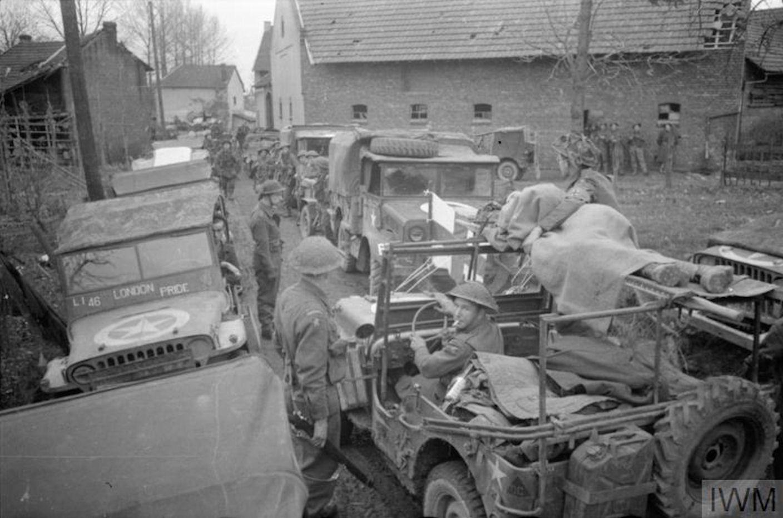 Medical jeep and others Geilenkirchen, 5 December 1944 ...