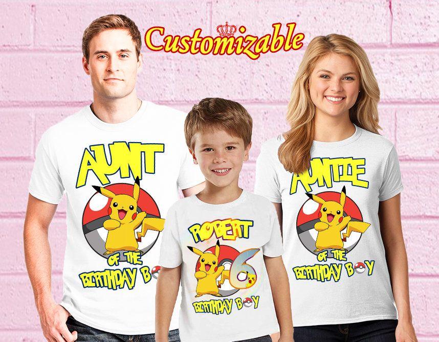28096e32 Pokemon Birthday T-Shirts, Custom Pokemon T-Shirt, Personalized Pokemon  Shirt, Pikachu family shirts, Birthday t-shirt for girls and boys by  Maridana on ...