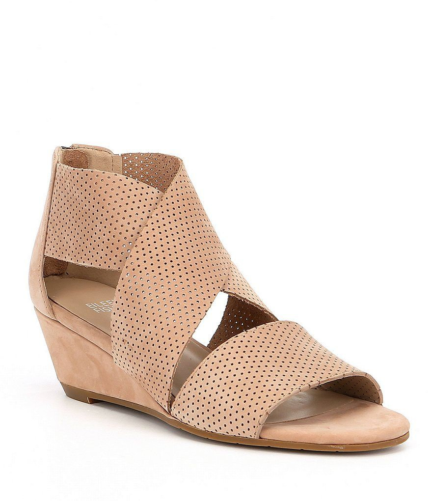 7e1d451f22b2 Eileen Fisher Kes2 Perforated Wedge Sandals | shoes | Wedges, Wedge ...