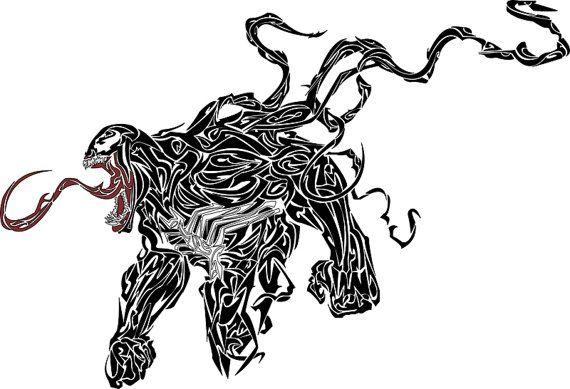 Tribal Venom Print By Meganyiu On Etsy Venom Tattoo Classic Tattoo Venom