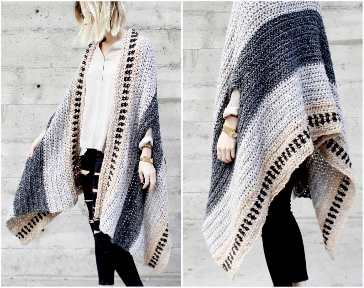 Saddlebrook Cape Scarf – Free Crochet Pattern | Pinterest | Patrones ...