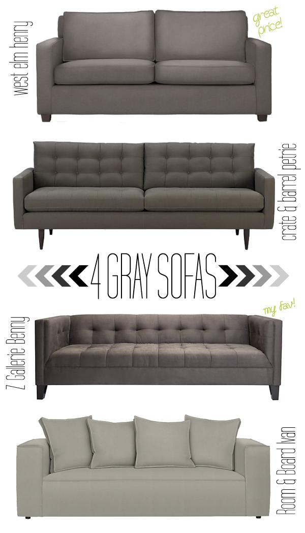 4 Gray Sofas