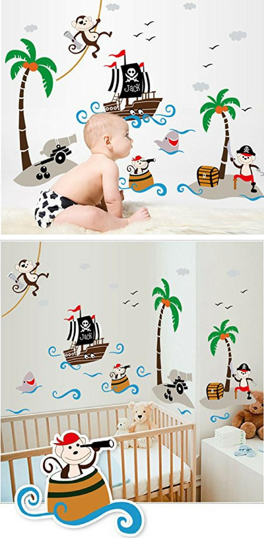 ⚓ Pirate Room   Wandtattoo Piratenschiff   Piraten Aufkleber ...