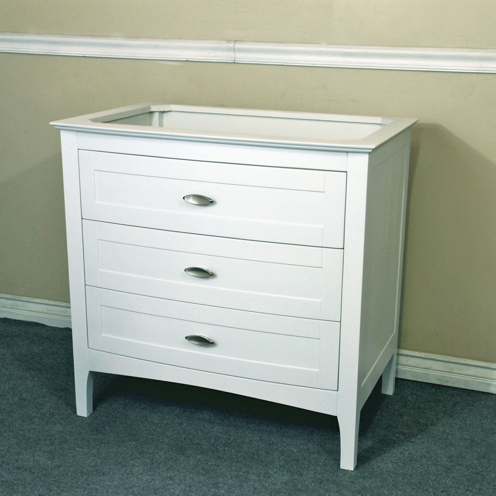 The Bella Collection 35 Inch Single Sink White Vanity Base Only White Vanity Bathroom Wood Bathroom Vanity Bathroom Vanity Base