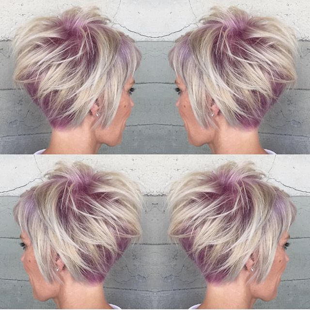 """💋 Hair Makeup Nails 💋 on Instagram: """"💜 Short. Sassy. Sexy. 💜 Can't get enough of this short haircut and color design by @alexisbutterflyloft #hotonbeauty"""""""