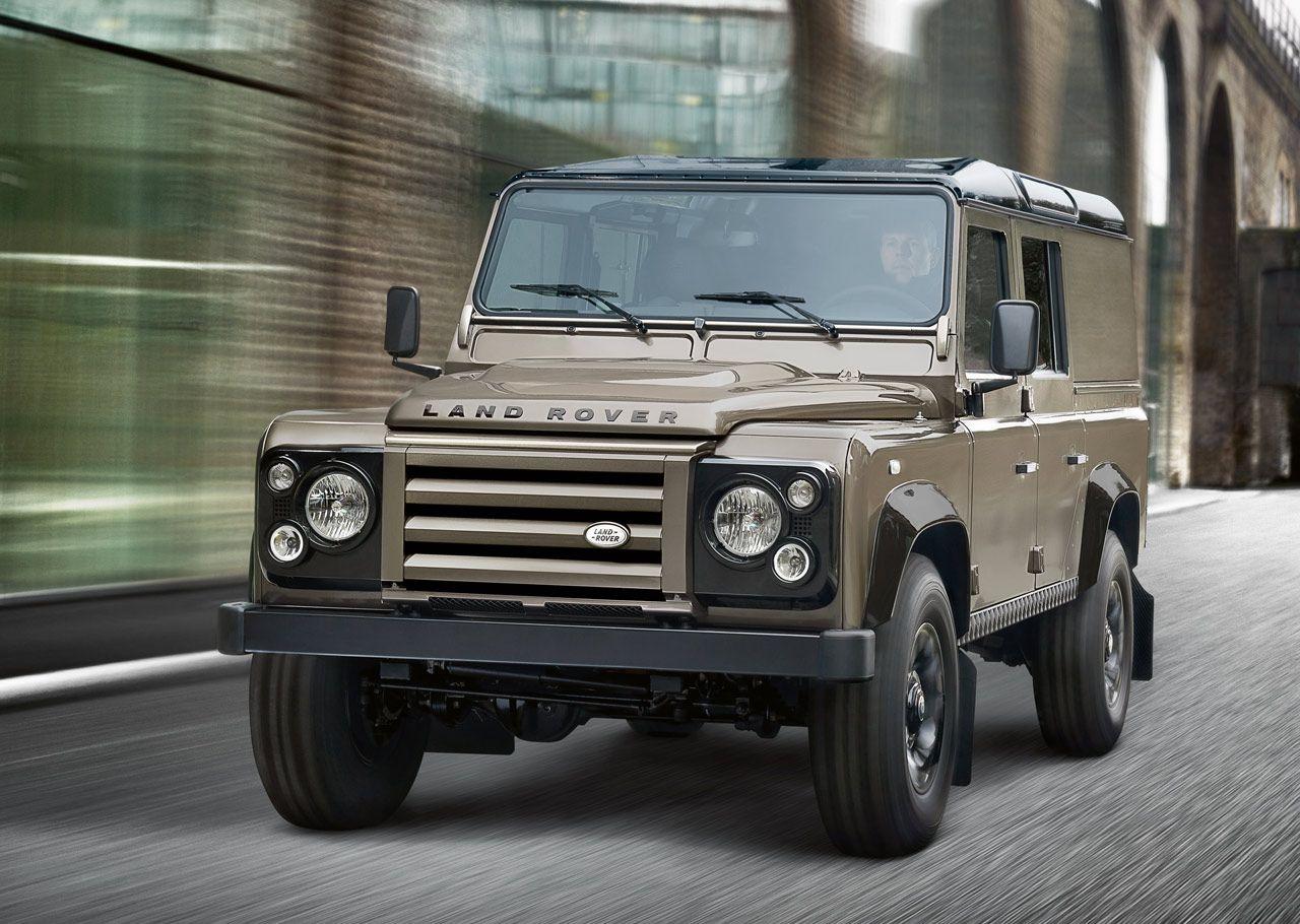 Land Rover Defender Xtech - 2012 update of 1960's classic LR Defender Safari soft top