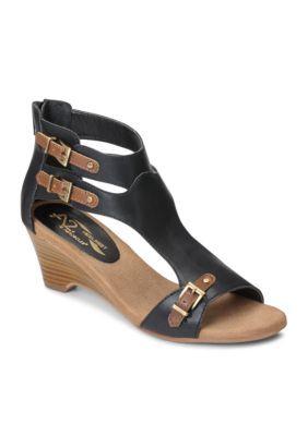 7d2966f88576 A2 By Aerosoles Women s Mayflower Sandal Wedge - Black Combo - 9.5W ...