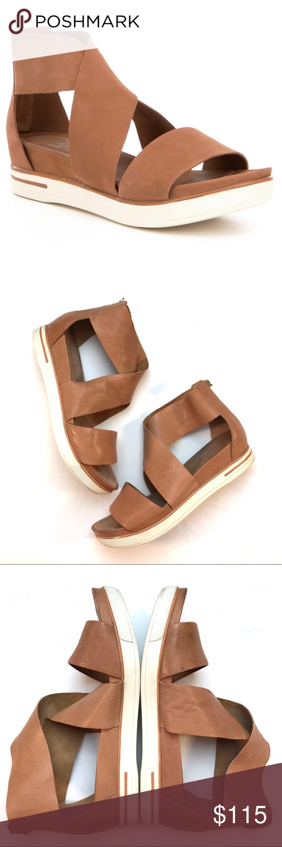 0cc84039f857 Eileen Fisher Leather Criss Cross Sport Sandals Eileen Fisher Tumbled  Leather Criss Cross Banded Backstrap Sport