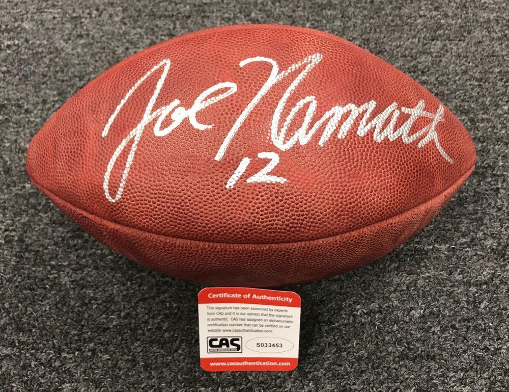c95b83b63 Joe Namath Signed Full Size Duke Football AUTO CAS COA New York Jets ...