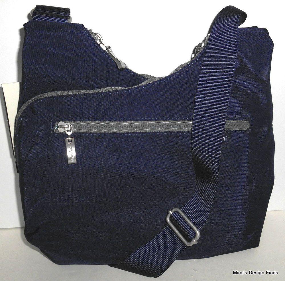26ea05940e BAGGALLINI Criss Cross Cohort Crossbody  NEW  Navy Blue Nylon Organizer Bag  NWT  Baggallini