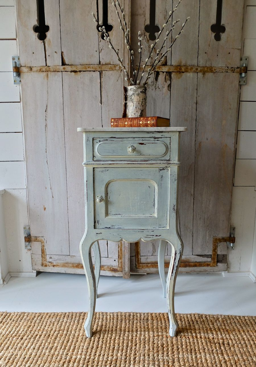 A Decorative Painted Pot Cupboard With Marble Top French Circa 1910 The Marble Top Marble Topped Bedside Table French Bedside Tables French Bedside Cabinets