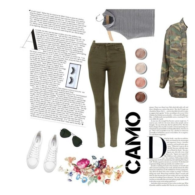 """""""Untitled #30"""" by cata13mota on Polyvore featuring Topshop, Yves Saint Laurent, Ray-Ban, Terre Mère, cute, casual, military, UNICORNPOWER and camostyle"""