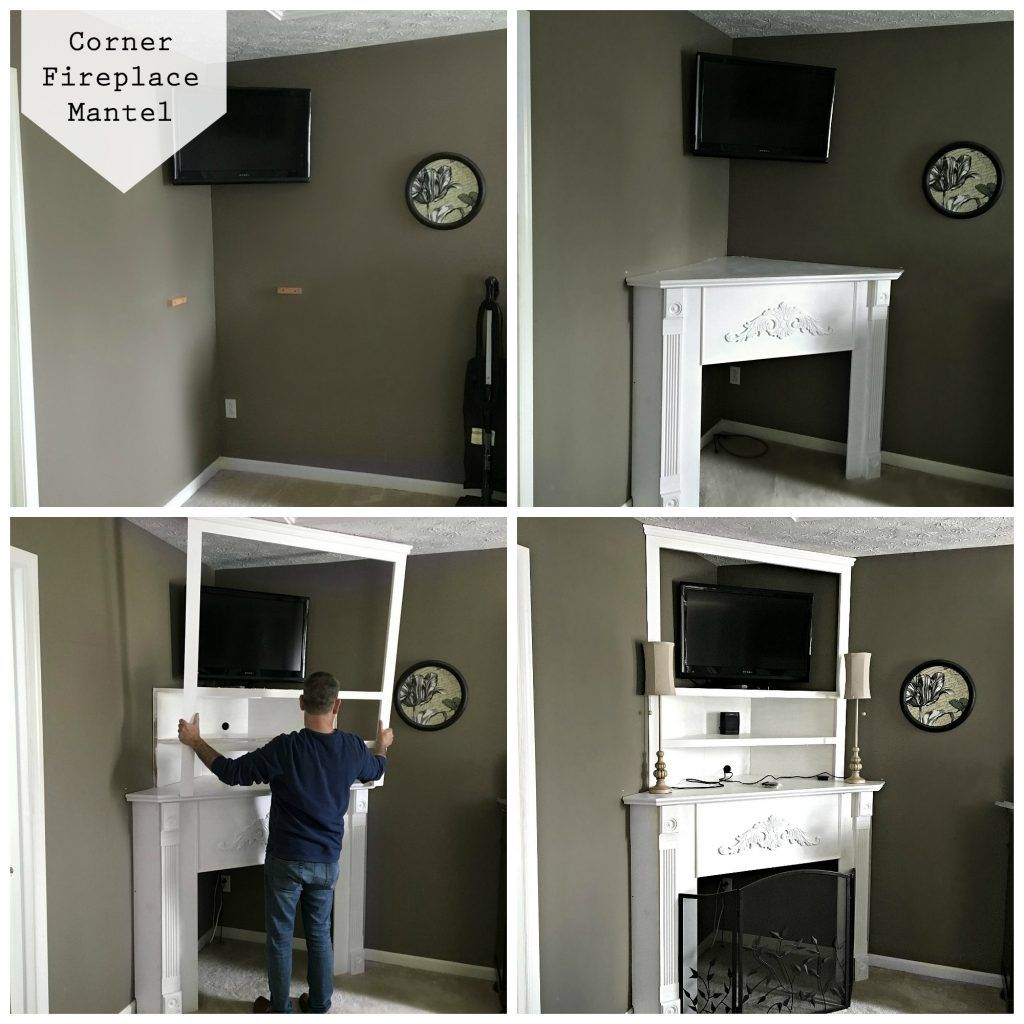diy corner fireplace mantel in a day corner fireplace mantels
