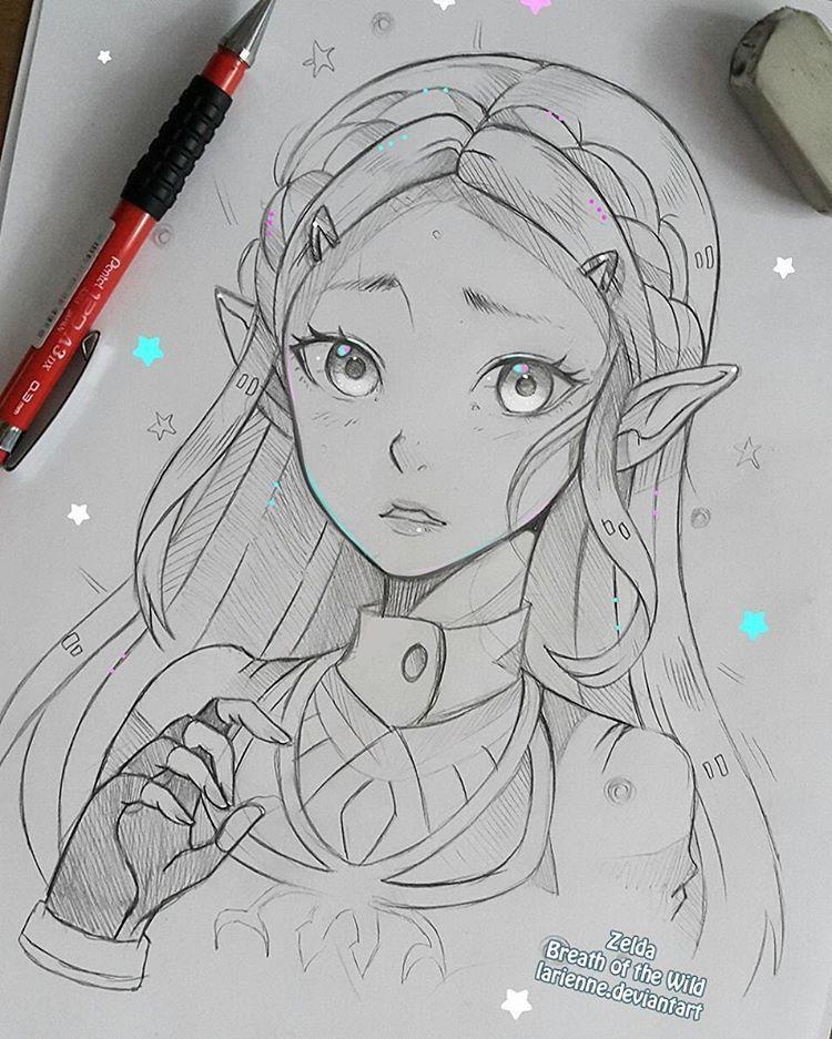Zelda Breath Of The Wild Who Is Excited For It Larienne Deviantart Com Dessin Elfe Dessin Zelda Dessin De Personne