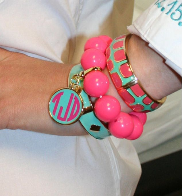Bangle bracelets with monogram!
