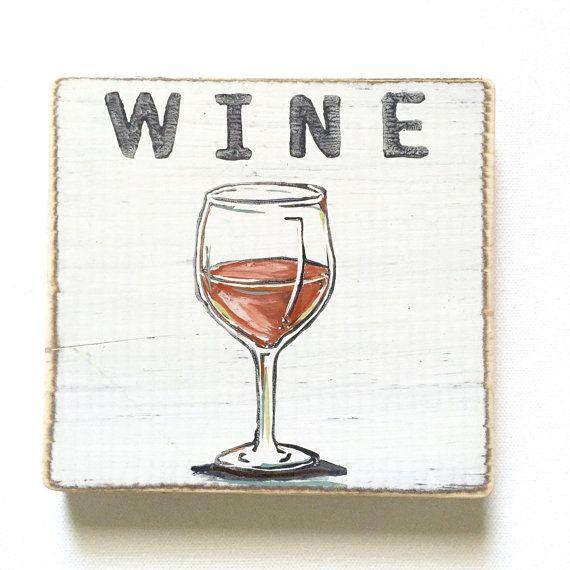 Wine Wood Sign by HomeMaloneNOLA on Etsy