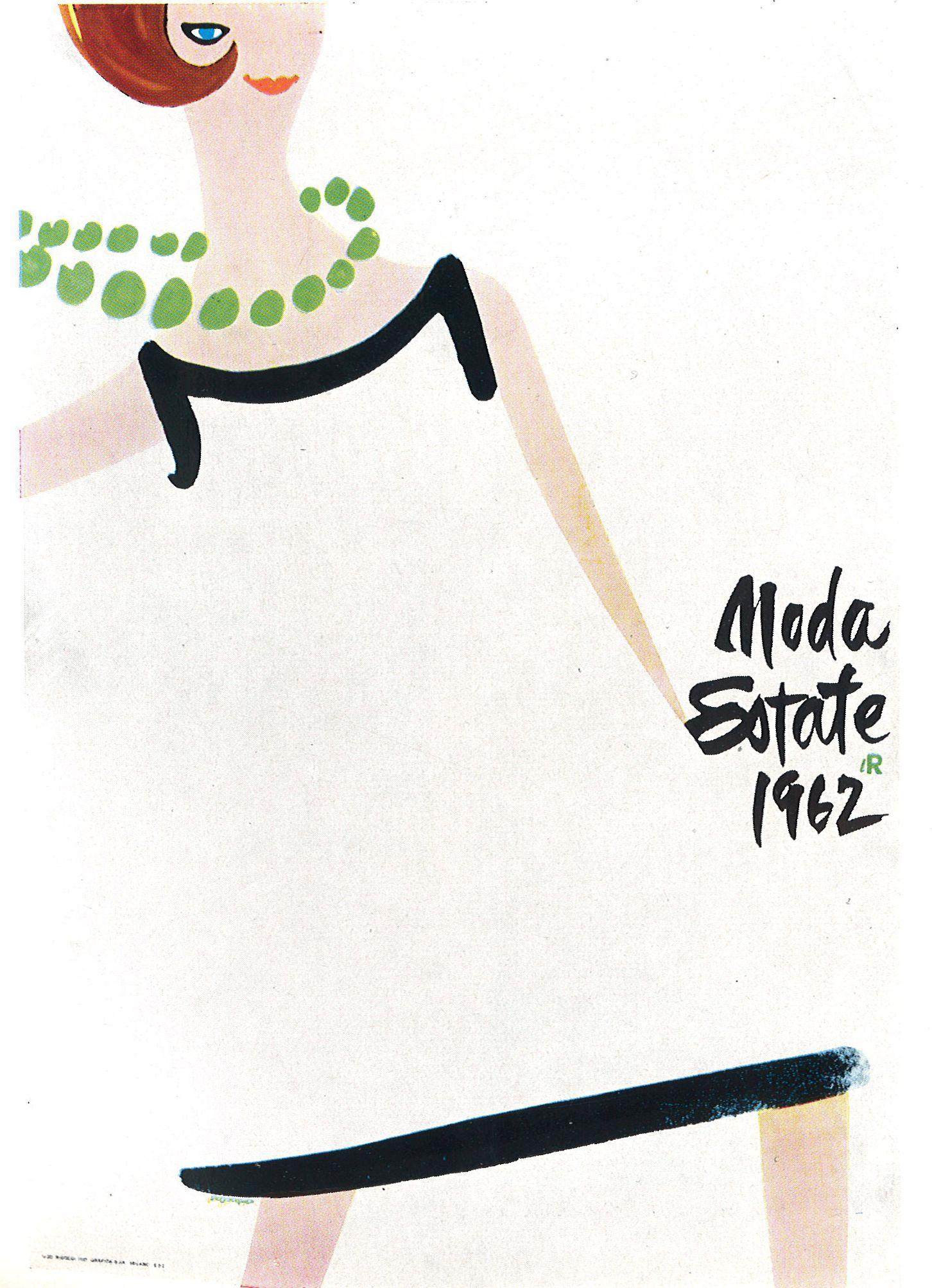 Lora lamm for la rinascente 1962 fashion 1stfirst for Carta rinascente