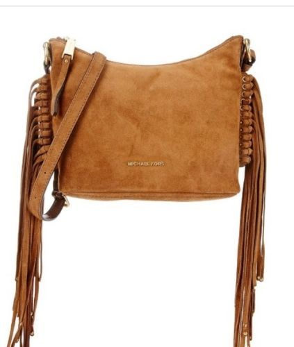 8ef4e6a7f90f11 MICHAEL-KORS-Billy-Medium-Fringe-Suede-Crossbody-Bag-Dark-Caramel-NWT