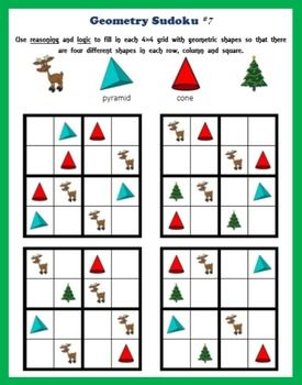 Christmas Sudoku.Geometry Sudoku On Christmas Logic And Reasoning
