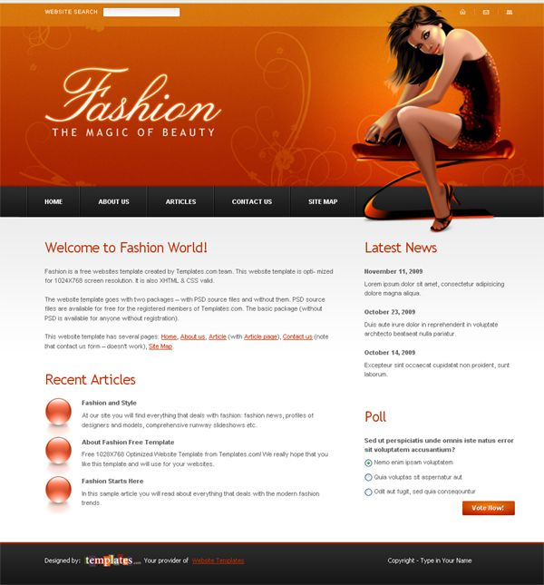 Website Templates Free Freewebsitetemplatetobeusedonafashionrelatedsite