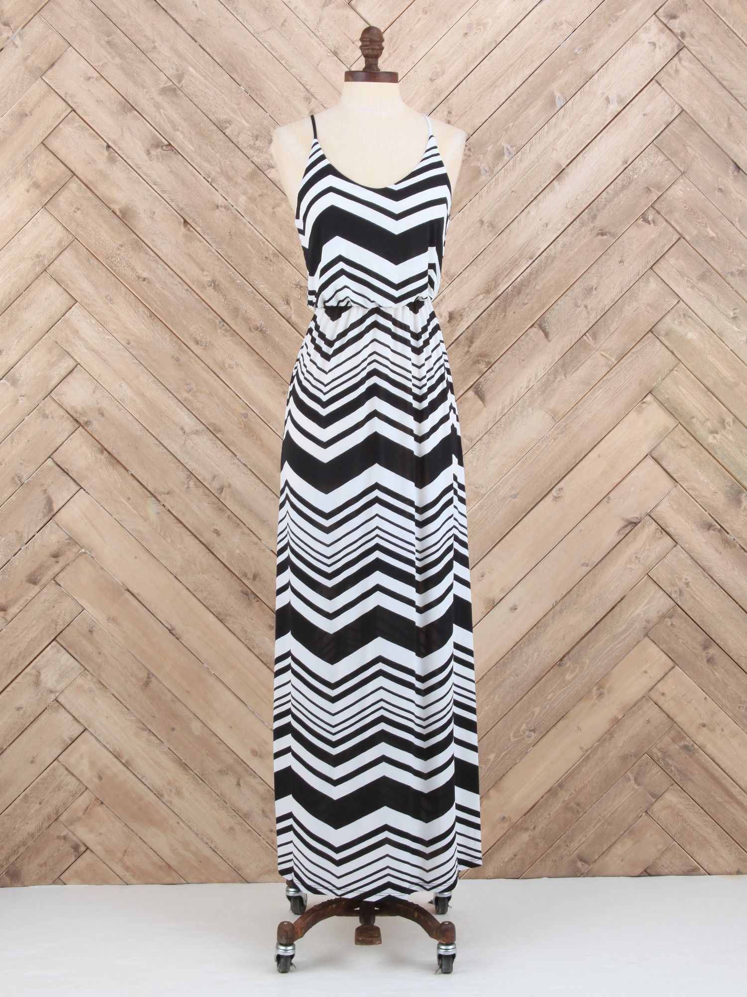 Simply Cinched Chevron Maxi - Dresses - Apparel