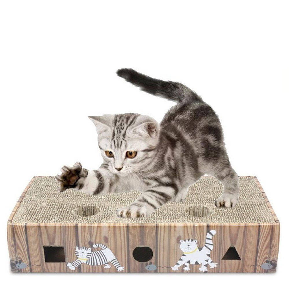 Pikapika Deluxe Large Cat Scratcher Pad Include Catnips And Two Balls With Bell You Can Find Out More Details At The Link Of The Im Cat Toys Cat Fleas Cats