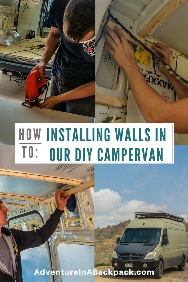 Installing Walls in our DIY Campervan | Adventure in a Backpack Blog ...
