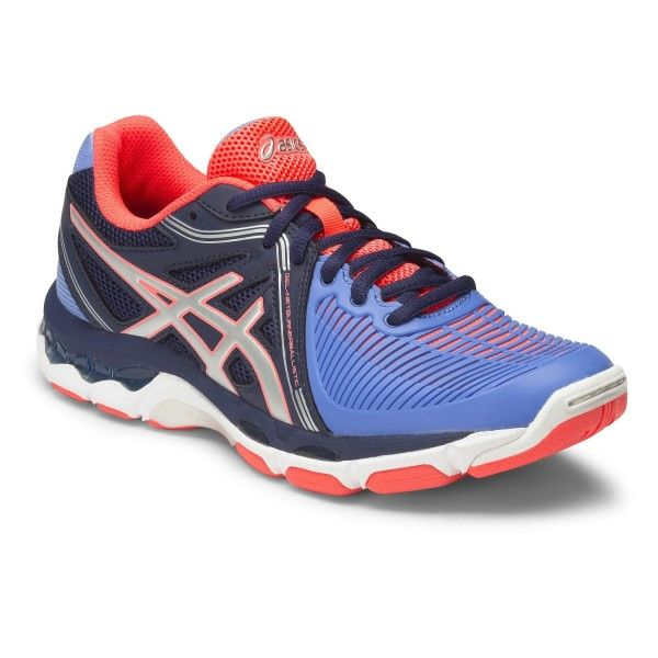 Asics Gel Netburner Ballistic - Womens Netball Shoes - Columbia  Blue/Silver/Navy