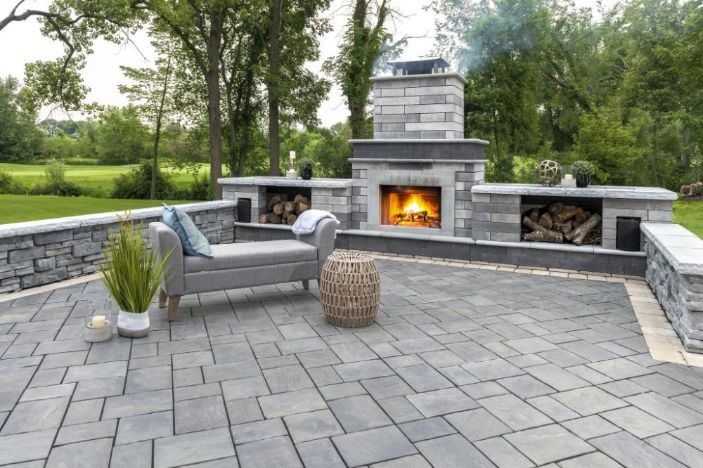 Patio Fireplace Google Search Stone Patio Designs Patio
