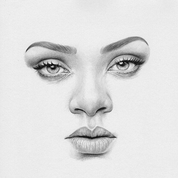 Rihanna Dibujo De Retrato Tutoriales De Dibujo A Lapiz Rostros De Arte