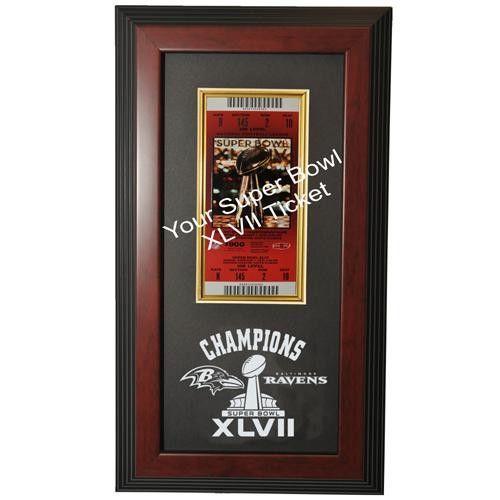 Baltimore Ravens Super Bowl 47 Champions Framed Ticket Display Case