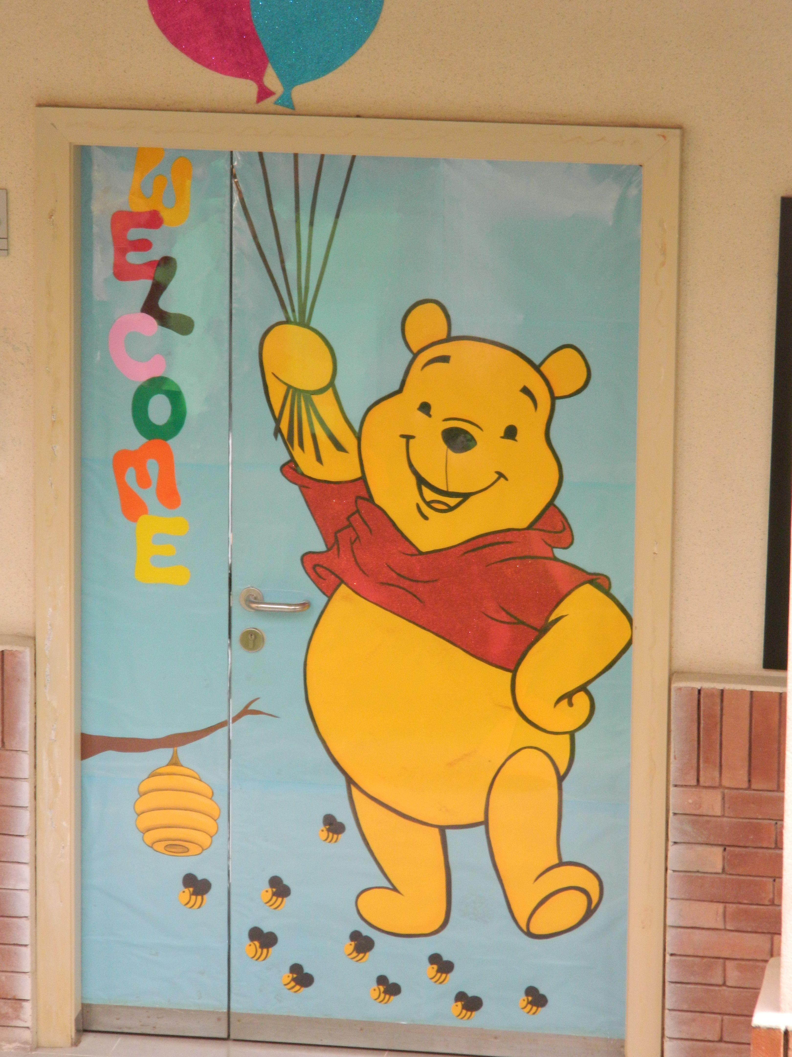 pooh bear door | bulletin boards and doors | Pinterest | Bulletin board