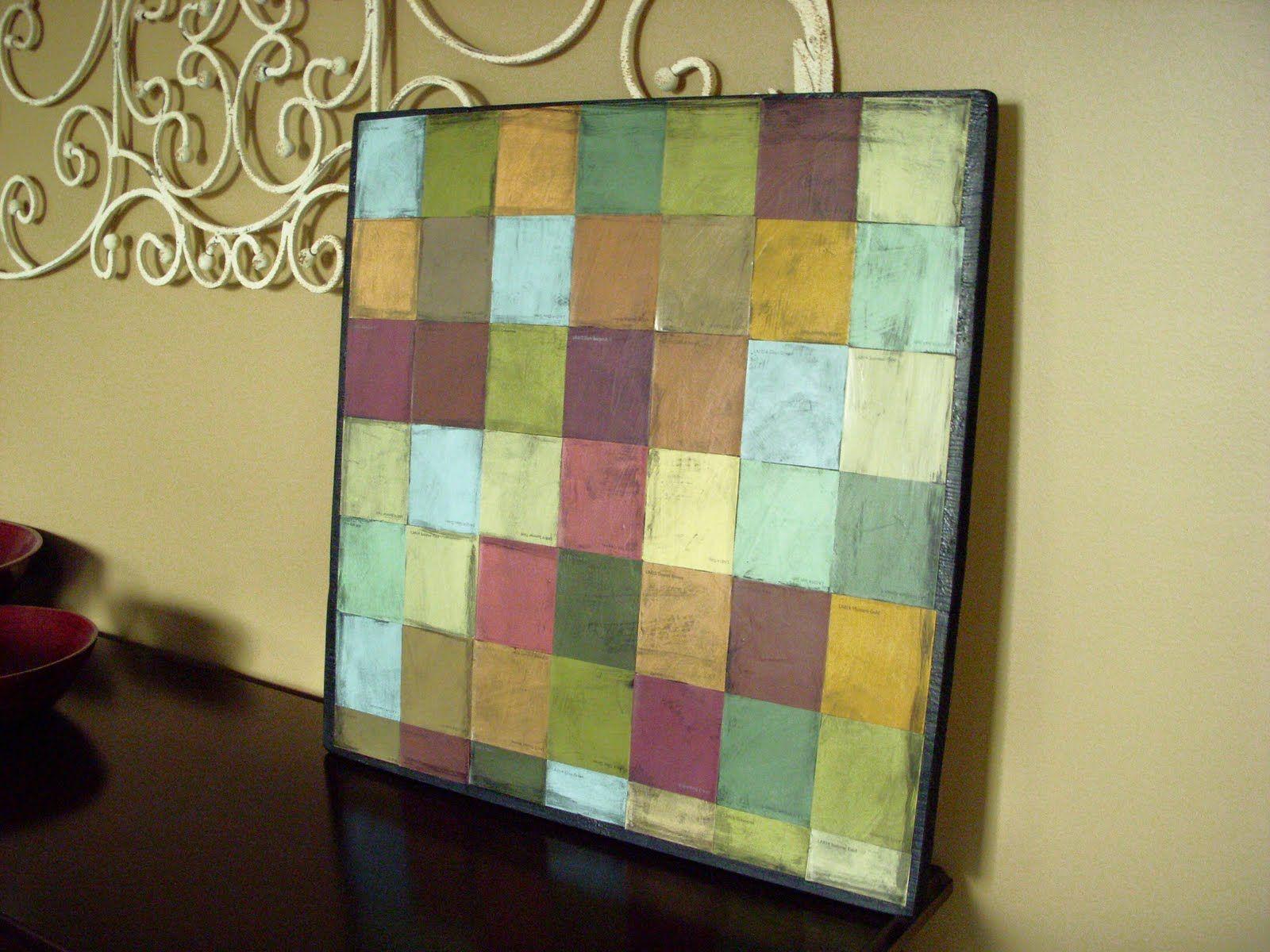 Paint chip mosaic art   Paint chips, Paint chip art and Mosaics