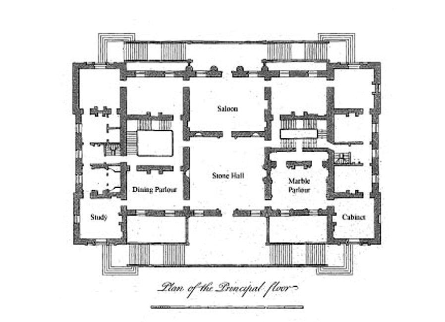 Houghton Hall Plan 1st Floor Centre Block Houghton Hall Mansion Floor Plan Vintage House Plans