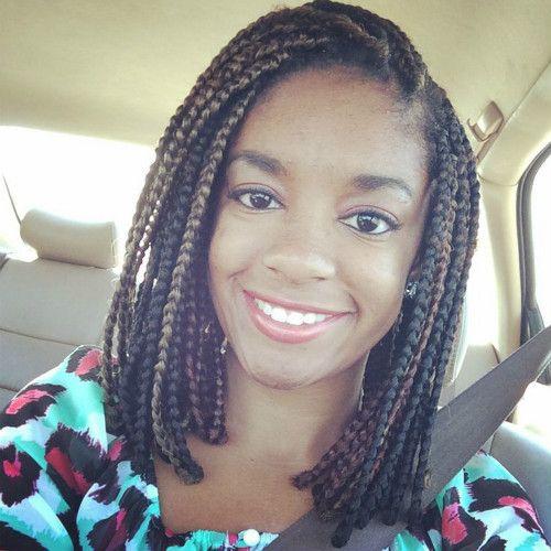 Black Hair Medium Length Braided Hairstyles For Women