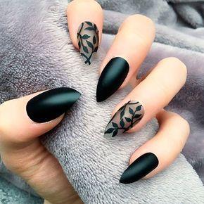 stylish black matte nails  naildesignsjournal  shiny