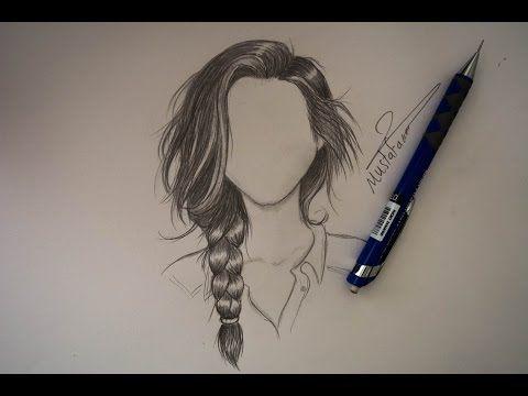 رسم الشعر بالرصاص بتسريحة الظفيرة Youtube How To Draw Hair Eye Drawing Easy Drawings